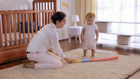 Ejercicio de motricidad gruesa para niños