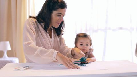 Actividad de coordinación motriz para bebés