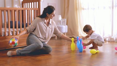 Actividad para estimulación motriz de tu bebé